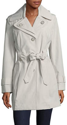 London Fog Single Breasted Hooded Trench