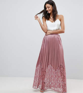 Little Mistress Tall Lace Pleated Maxi Skirt