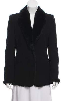 Armani Collezioni Structured Fur-Lined Jacket