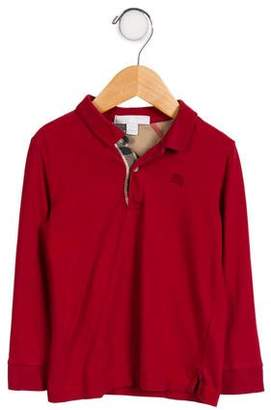 Burberry Boy' Long Sleeve Polo Shirt