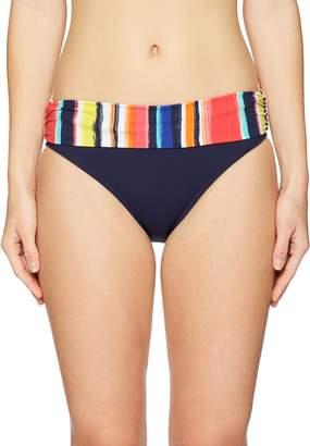 Anne Cole Women's Stripe Foldover Swim Bottom