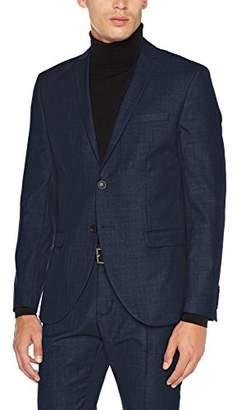 Selected Men's Shdone-mylobiga4 Dk Blue Blazer Noos Suit Jacket, (Dark Blue)