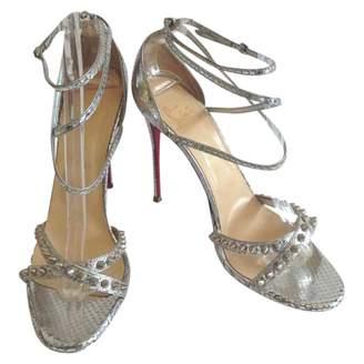 Christian Louboutin Silver Python Heels