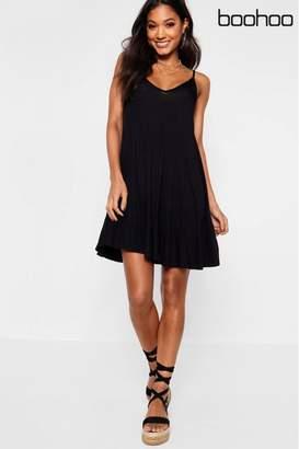 boohoo Womens Cami Swing Dress - Black
