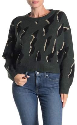 Lumiere Boxy Dolman Sleeve Crop Sweater