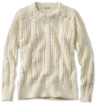 L.L. Bean L.L.Bean Rope-Stitch Shaker Sweater, Crewneck