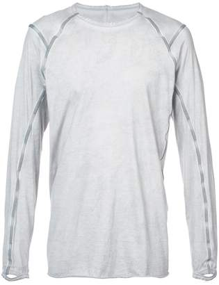 Isaac Sellam Experience contrast piped long sleeve T-shirt