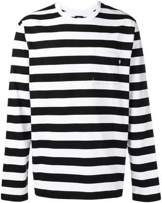 Stussy horizontal striped T-shirt