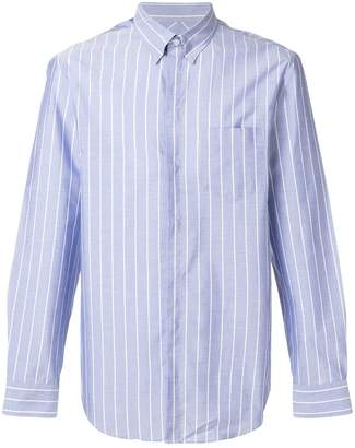 Emporio Armani striped printed classic shirt