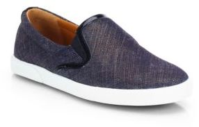 Jimmy Choo Demi Denim Laceless Sneakers