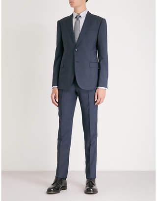 MENS UK WAIST Micro pin pattern M-line wool suit