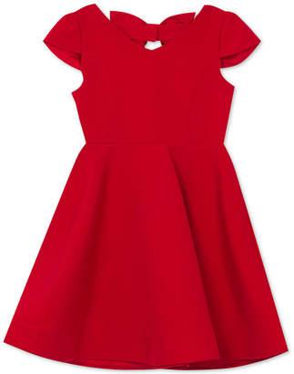 Rare Editions Big Girls Bow-Back Dress