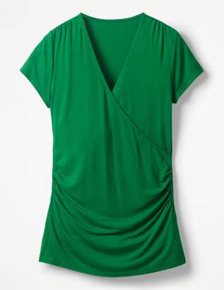 Boden Short Sleeve Wrap Top