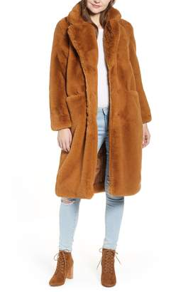 APPARIS Laure Faux Fur Long Coat