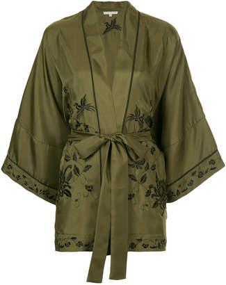 Gold Hawk belted kimono jacket
