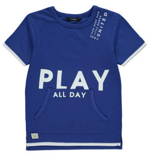 George Blue Play All Day Slogan Pocket T-Shirt
