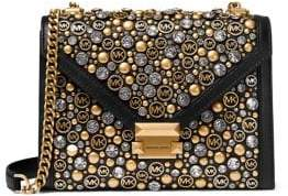MICHAEL Michael Kors Mini Whitney Embellished Leather Crossbody Bag