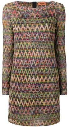 Missoni knitted zigzag dress