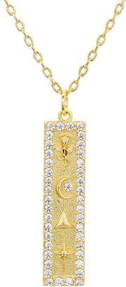 Lulu DK x We Wore What Pave & Symbol Pendant Necklace, 18