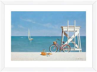 McGaw Graphics Ocean Ride by Zhen-Huan Lu (Framed Print)