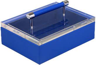 Sagebrook Home Blue Acrylic Top Jewelry Box