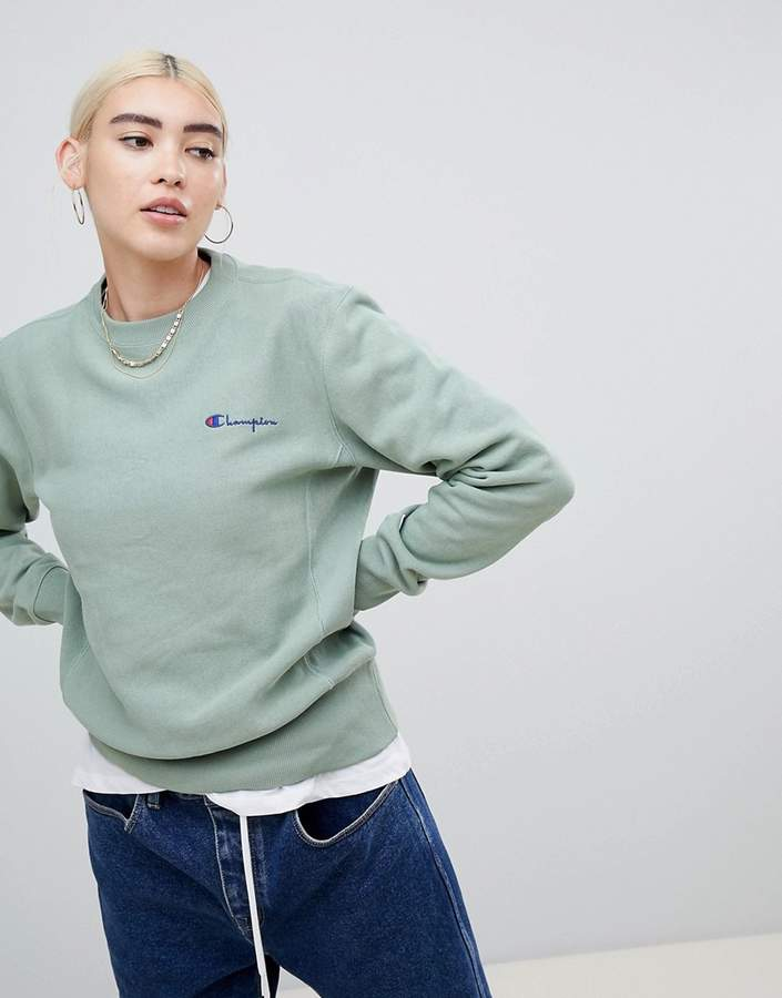Relaxed Sweatshirt With Small Script Logo
