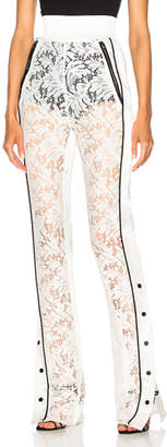 David Koma Side Snap Lace Trouser Pants