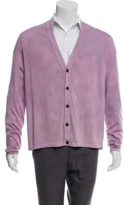 Versace Button-Up Silk Cardigan
