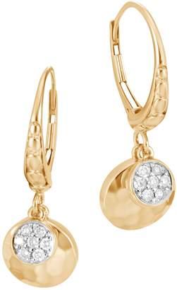 John Hardy Diamond Pave Charm Drop Earrings