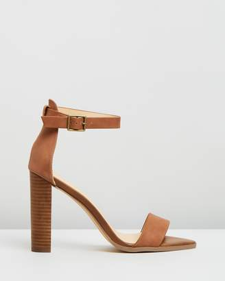Atmos & Here Lara Leather Block Heels