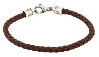 John Hardy Bamboo Woven Leather Bracelet