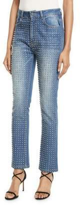 Alice + Olivia Fabrice Studded Straight-Leg Jeans
