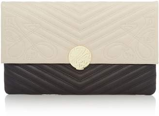 Biba Rosa Lock Leather Clutch