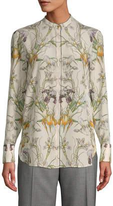 Alexander McQueen Silk Floral Blouse