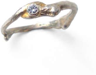 Carrie Bilbo Jewelry Single Twig Ring Blue