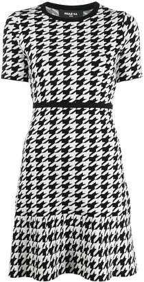 Paule Ka short houndstooth dress