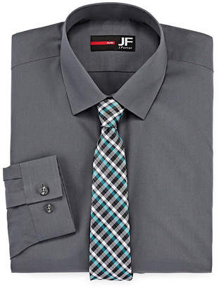 Jf J.Ferrar JF Easy-care Slim Fit Long Sleeve Shirt And Tie Set