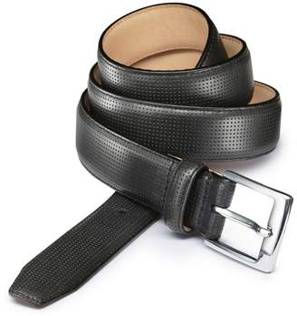 Charles Tyrwhitt Black Perforated Leather Belt Size 30-32