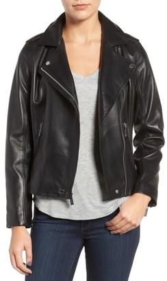 Women's Michael Michael Kors Leather Moto Jacket $498 thestylecure.com