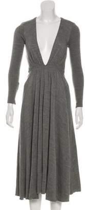 Michael Kors Virgin Wool Midi Dress w/ Tags Grey Virgin Wool Midi Dress w/ Tags