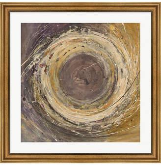 "Metaverse Wooden Rings by Albena Hristova Framed Art, 32"" x 32"""