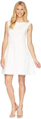London Times Drop Shoulder Fit Flare Dress Women's Dress
