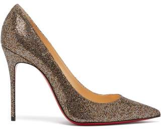 5ad4bb4216d3 Christian Louboutin Decollete 100 Metallic Pumps - Womens - Gold