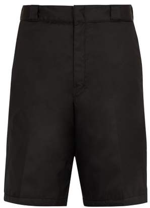 Prada Padded Nylon Shorts - Mens - Black
