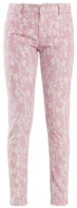 Preen Line Kiera Skinny Floral Print Corduroy Trousers - Womens - Light Pink