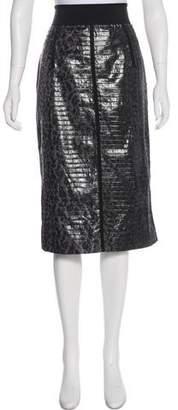 Dolce & Gabbana Pleated Silk Skirt