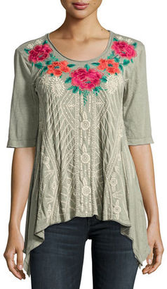 JWLA For Johnny Was Selena Trapeze Knit Tee $145 thestylecure.com