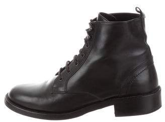 Saint Laurent Leather Combat Ankle Boots