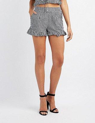 Ruffle-Trim Gingham Shorts $19.99 thestylecure.com