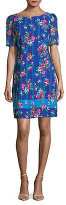 Karl Lagerfeld PARIS Short-Sleeve Floral-Print Shift Dress